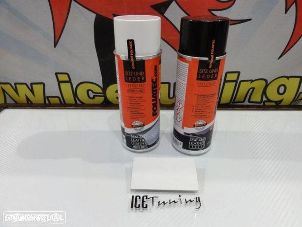 Spray reparação e pintura + spray de limpeza Branco Mate para bancos de mota