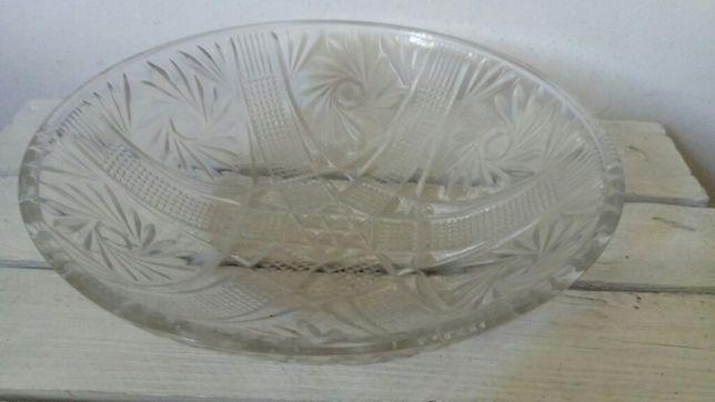 Półmisek talerz na owoce szklany pamiątka PRL