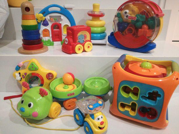 Zabawki Fisher Price ikea smiki sorter wieża domek ślimak pociąg