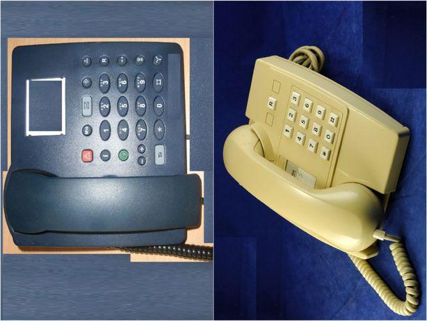 Telefone analógico Elotécnico IXT Modelo 264014. Cor Creme e Cor azul.