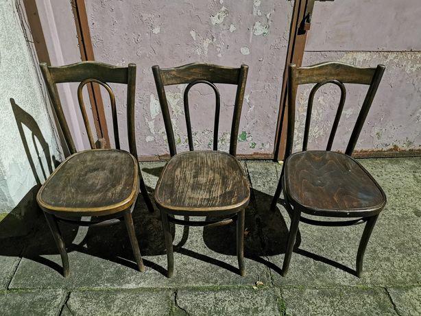Krzesła retro, bardzo stabilne i wytrzymałe