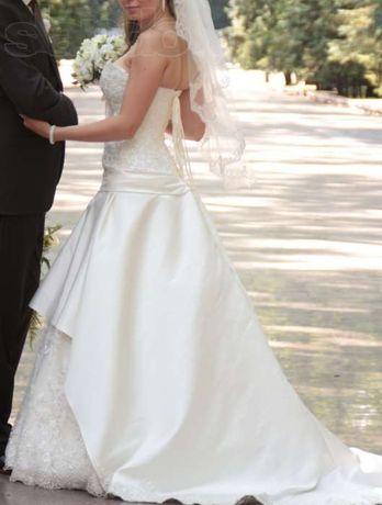 Свадебное платье прокат недорого в идеальном состоянии цвет айвори