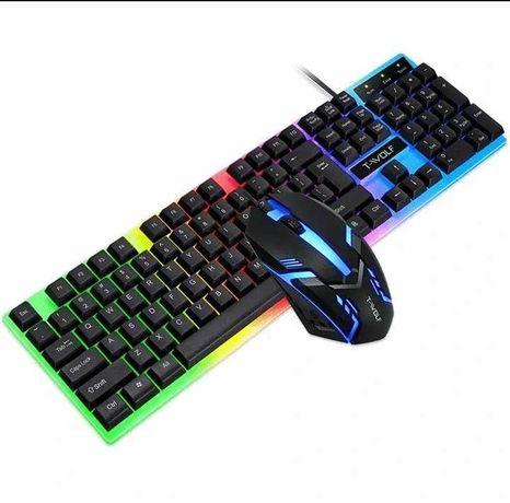 Profesjonalny zestaw dla gracza klawiatura+mysz