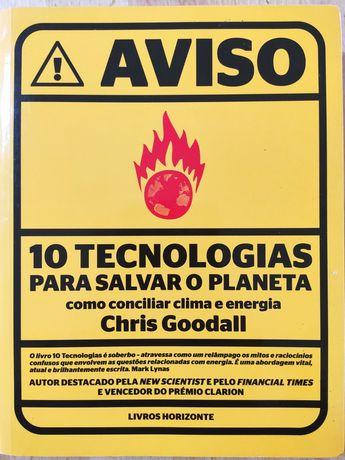 Aviso - 10 Tecnologias Para Salvar o Planeta de Chris Goodall - Usado