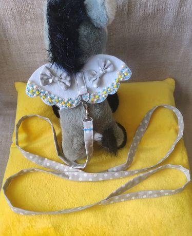 Поводок с крылышками/ поводок для кролика/ ангел/ кролик/ свинка