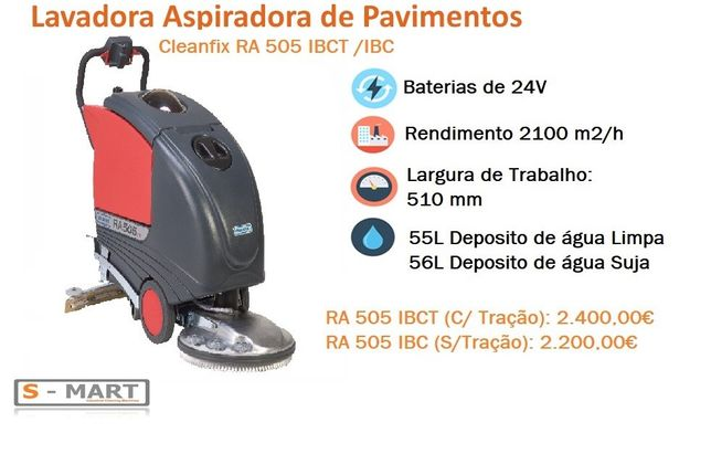 Lavadora Aspiradora Pavimentos Cleanfix RA 505