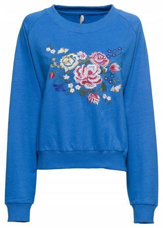 Bluza OVERSIZE z kwiatowym HAFTEM 40/42