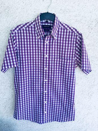 Męska koszula  w kratę rozmiar S