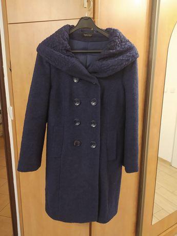Płaszcz damski granatowy zimowy