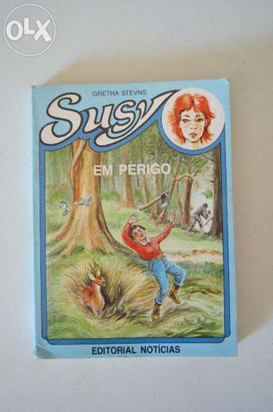 """Livro """"Susy em perigo"""" - Gretha Stevns"""