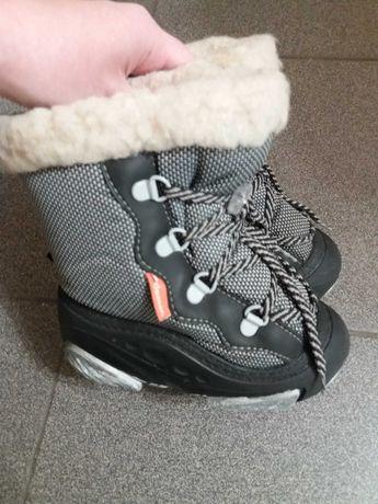 Demar 24 25  демары серые зимние ботинки