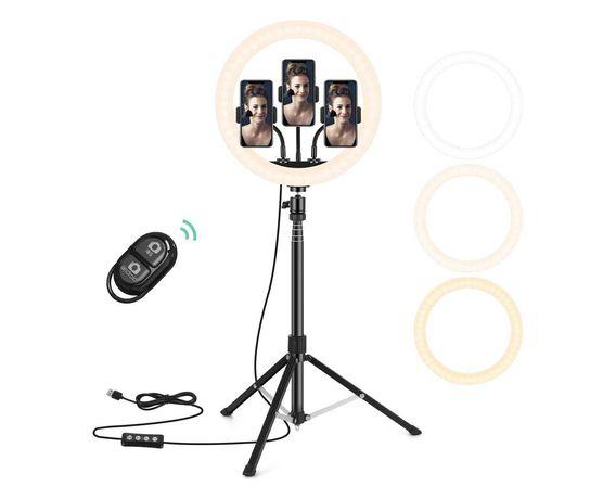 """Anel luz 30cm ring light 12"""" com tripé regulável 5v USB"""