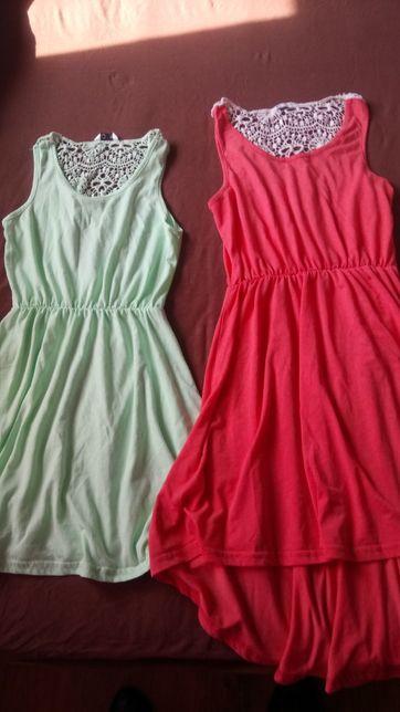 Sukienki dziewczęce r 134/140 i 158/164