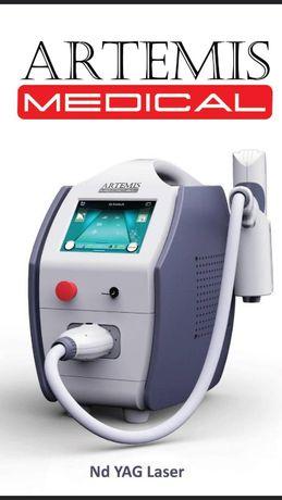 Laser Q-Switch Nd YAG Niemiecki Cert. Medyczny obsluga w j. Polskim