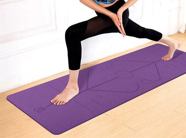 Tapete Esteira Colchonete Yoga Ginastica Fitness Pilates C/ saco NOVO