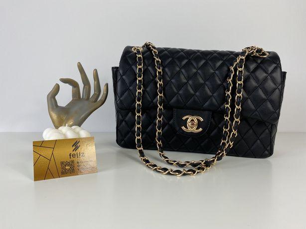 Totebka damska Chanel Flap czarna premium jakości luksusowa