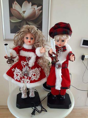 Para porcelanowa Chłopczyk Dziewczynka Mikołaj (3)