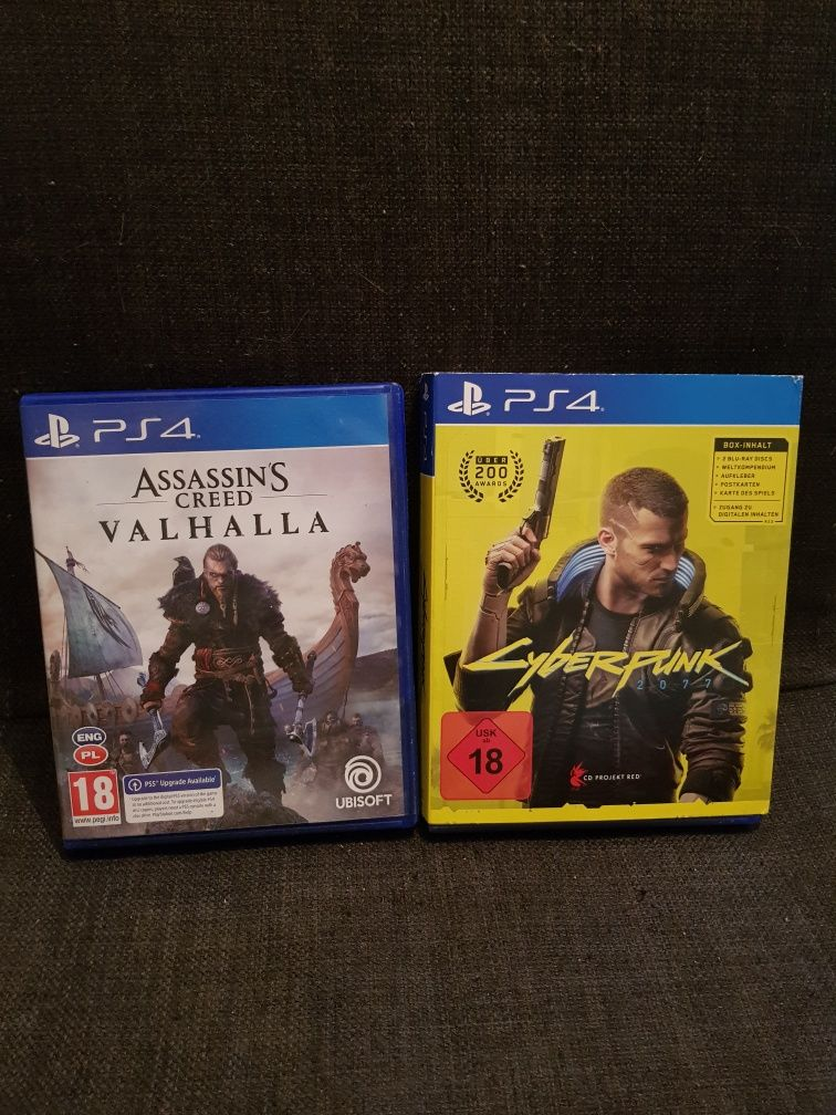 Assassin creed Valhalla Cyberpunk 2077 ps4 ps5
