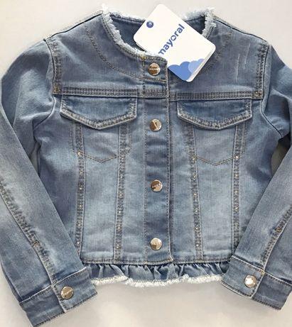 Kurtka jeans dziewczęca Mayoral roz.110