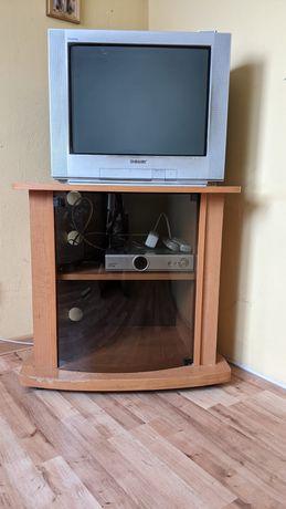 Telewizor + szafka + dekoder telewizji satelitarnej