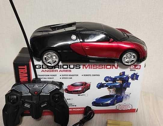 авто - трансформер, Bugatti Veyron, робот (р/у игрушка) - спорткар