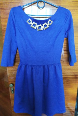 Платье цвета электрик