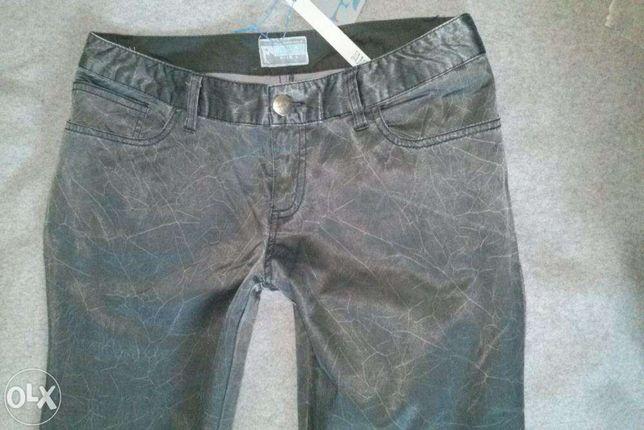 NOWE firmowe spodnie FUNKY GIRL grafitowe marmurkowe sliskie 38 40