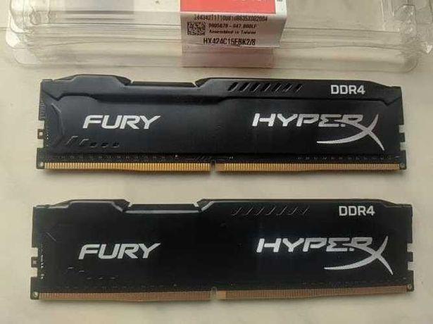 HyperX Fury DDR4-2400 8Gb (2x4)