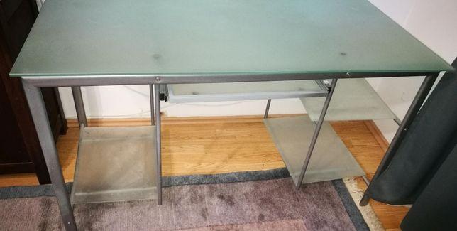 Nowoczesne szklane biurko komputerowe