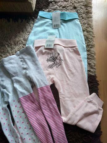 Spodnie dziewczęce plus rajstopy