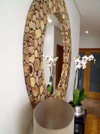 Espelhos em Madeiras Naturais