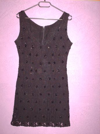 Czarna sukienka mini z koronki, rozm. M/L