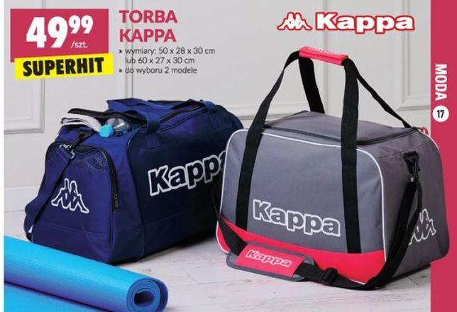 Torba MĘSKA sportowa treningowa KAPPA do ręki/na ramię kieszeń boczna