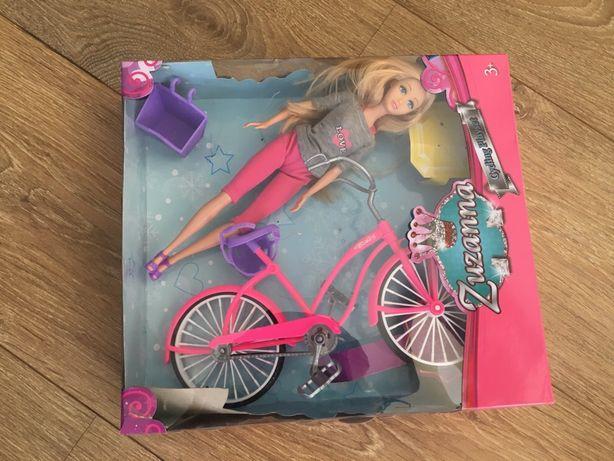 Lalka z rowerem