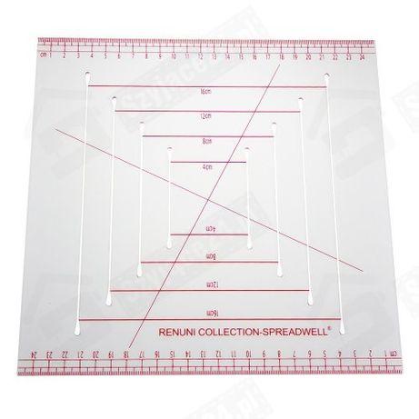 Linijka krawiecka do patchworku kwadratowa 25 x 25 cm