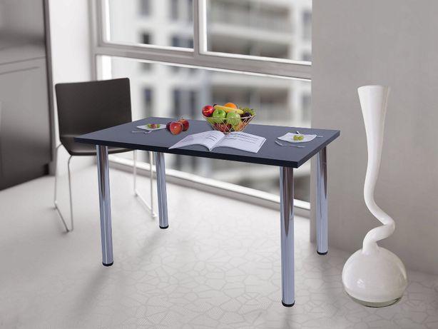 Stół kuchenny stolik 80x50x38 Czarny n.chrom Producent PL