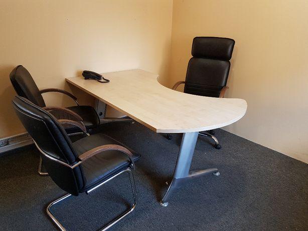 Biurko fotel plus krzesła