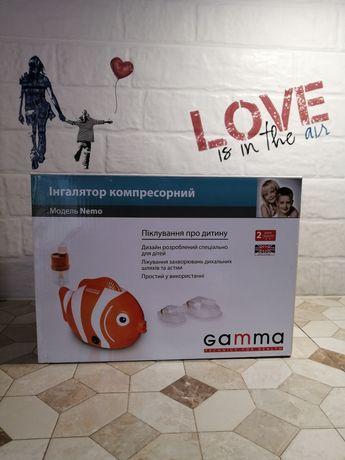 """Ингалятор компрессорный Gamma """"Немо"""" в виде рыбки"""
