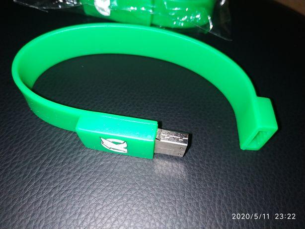 Силиконовый USB слэп браслет-флешка, накопитель, 1 ГБ