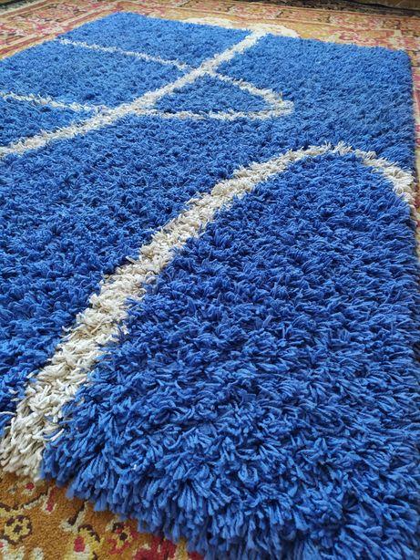 Килим травка синій, ковер синий