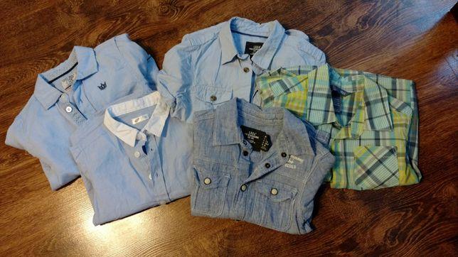 5 koszul chłopięcych 92-98 H&M, Lc Waikiki, jak nowe