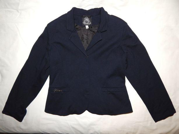 Школьный пиджак Sasha темно-синего цвета на девочку до 12 лет. Размер
