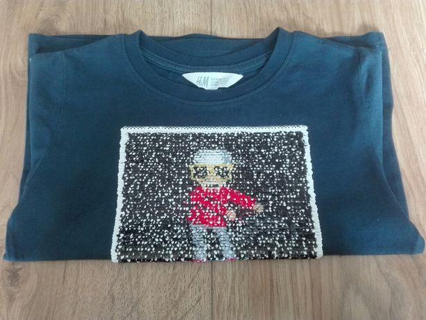 Koszulka (cekiny) h&m r.110-116