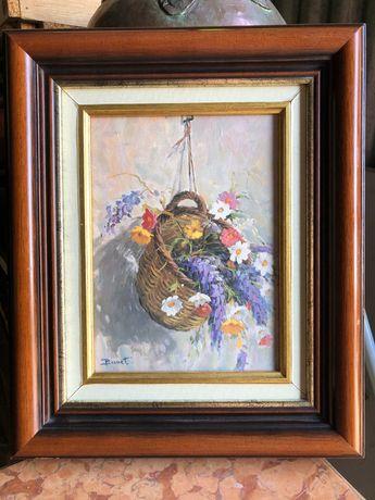 Kwiaty obraz olejny