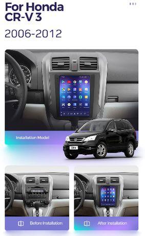 Radio nawigacja TESLA ANDROID Honda CR-V 2006=2012 WiF CRV BT WiFi