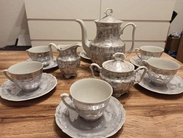 Serwis kawowy porcelana marmurek Wałbrzych