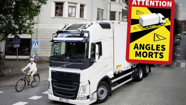 Autocolantes stickers para camions ''Angles Morts''