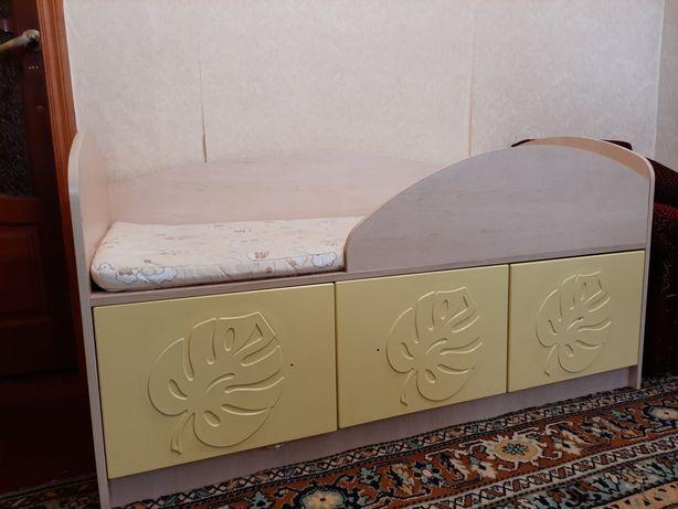 Детская кровать кроватка 140х70 МДМ-01 из гарнитура Маугли