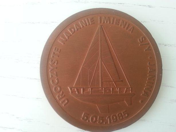 Medal - Pagaj nadanie imienia s/v Janina 1985