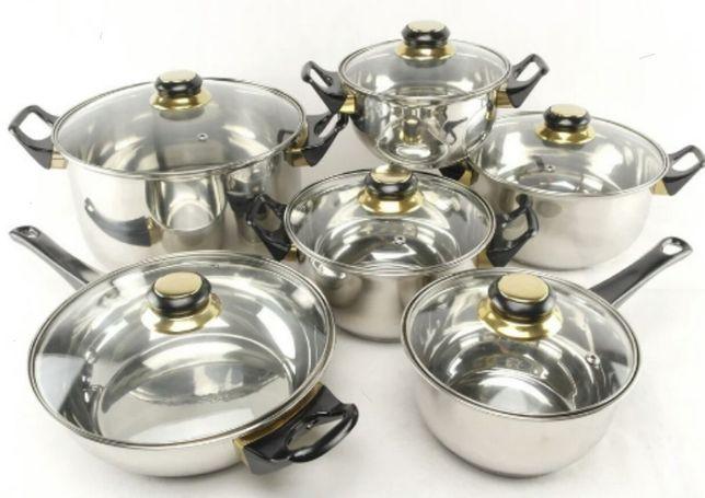 Набор посуды , набір каструль, A-Plus 6шт